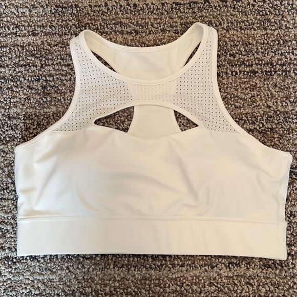 White sports bra padded